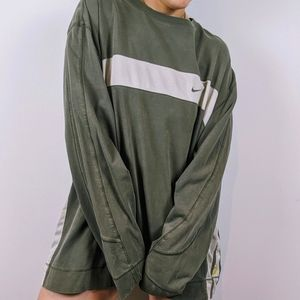 Nike oversized Long sleeve Top in Olive Green